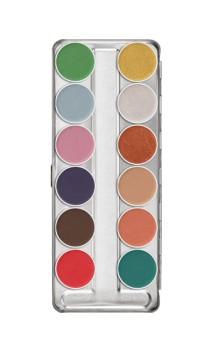Palette fard à eau interferenz 12 couleurs