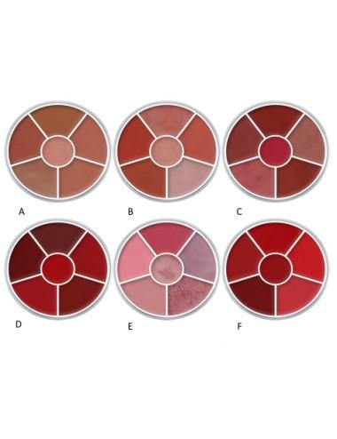 Rouges à lèvres palette ronde Kryolan