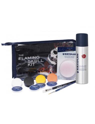 Kit de maquillage Flaming Skull