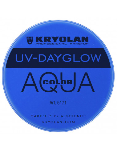 Aquacolor uv dayglow bleu