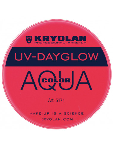 Aquacolor uv dayglow rouge