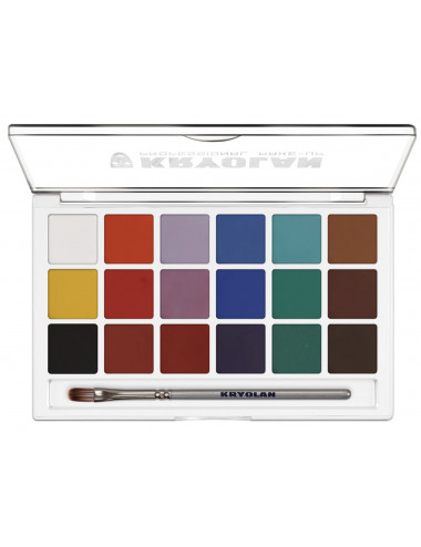 Palette Aquacolor set 18 couleurs