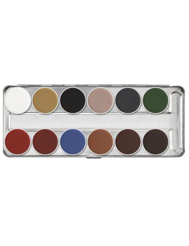 Palette fard à l'eau 12 couleurs