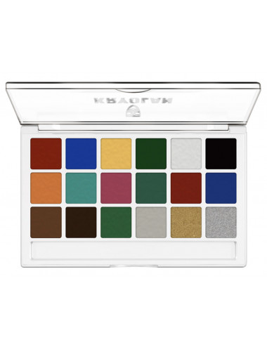 Palette body illustration make up color 18 couleurs