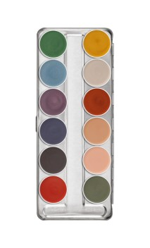 Palette fard gras Interferenz 12 couleurs