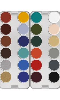 Palette fard gras 24 couleurs